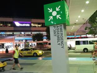 Emergency Assembly Point at an Airport