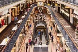 Queen Victoria Building, internal view of shopping arcade