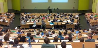University Lecture Theatre Audience